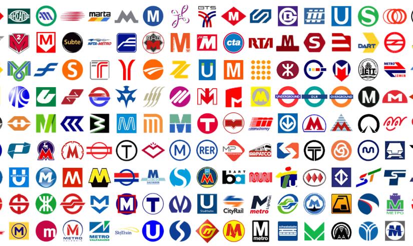 세계의 지하철 로고, 대중교통에서의 C.I.