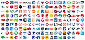세계의 지하철 로고 * Source: metrobits.org